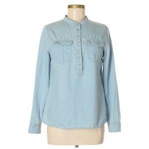 Indigo Rein Blue Chambray Popover Shirt